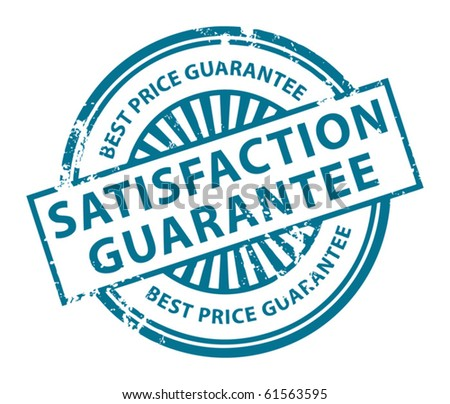 Grunge rubber stamp with the word Satisfaction Guarantee inside, vector illustration - stock vector