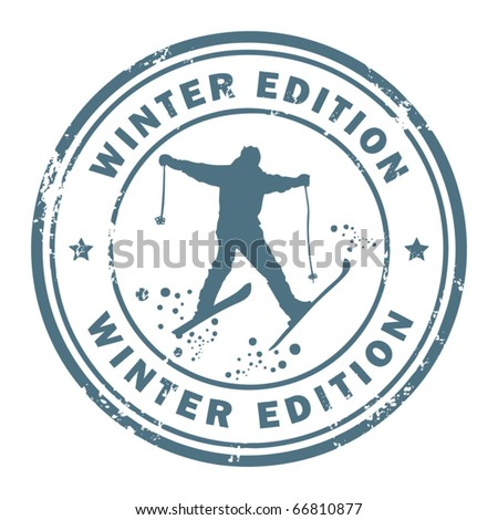 Grunge rubber stamp with the word Winter Edition inside, vector illustration - stock vector