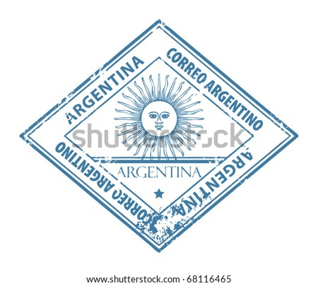 Grunge rubber stamp with word Argentina inside, vector illustration - stock vector