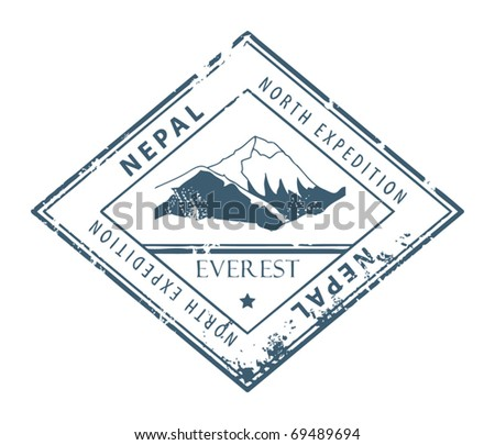 Grunge rubber stamp with word Nepal inside, vector illustration