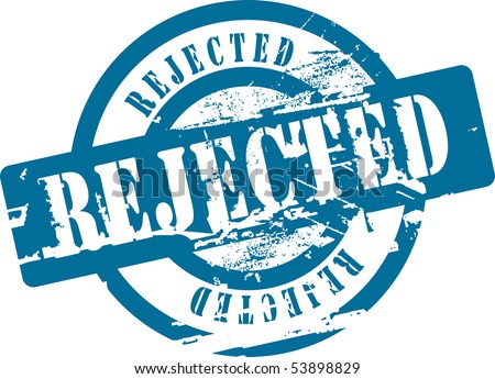 Grunge rubber stamp with word rejected. See other rubber stamps in my portfolio. - stock vector