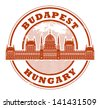 Grunge rubber stamp with words Budapest, Hungary inside, vector illustration - stock vector