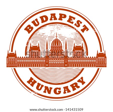 Grunge rubber stamp with words Budapest, Hungary inside, vector illustration