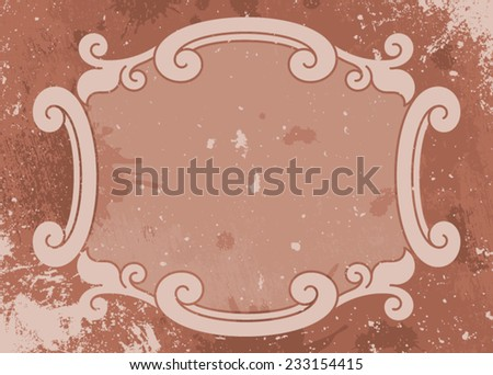 Grunge rust old fashioned vector illustration background label - stock vector