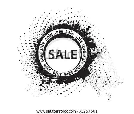 grunge sale - stock vector