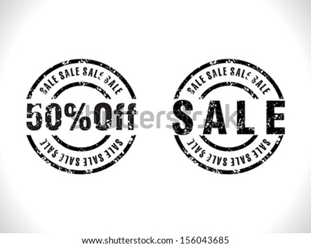 grunge sale tag vector illustration  - stock vector