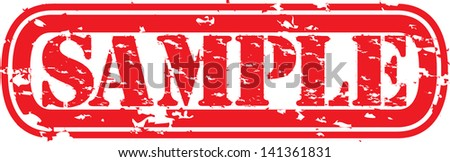 Grunge sample rubber stamp, vector illustration