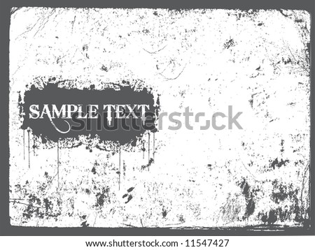 grunge sample text vector illustration abstract background - stock vector
