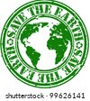 Grunge save the earth rubber stamp, vector illustration - stock photo