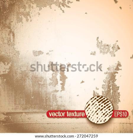 Grunge Scratch Texture. Vintage Stamp Vector Background. - stock vector