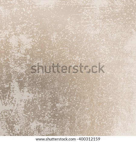 Grunge Scratched Beige Texture - stock vector
