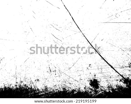 Grunge scratched  texture. Vector illustration. - stock vector
