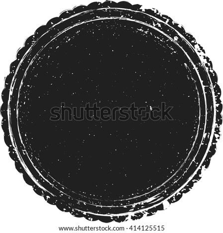 Grunge Seal Logo .Distressed label Texture . Rounded Post Stamp Collection . Vector Badge Art. - stock vector