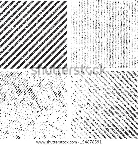 Grunge set stripe. Vector illustration.  - stock vector