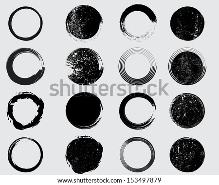 Grunge shapes - stock vector