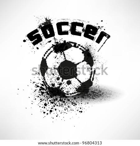 grunge soccer ball vector - stock vector