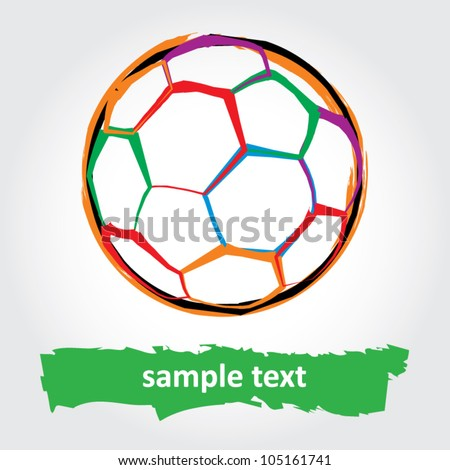 Grunge soccer ball. vector illustration - stock vector