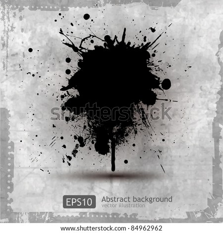 Grunge Splash Background - stock vector