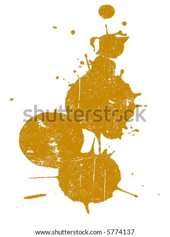 Grunge Splat  -  Background is transparent so they can be overlayed on other Illustrations or Images. - stock vector