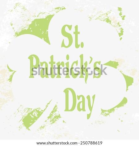 Grunge St. Patrick Day background, vector illustration - stock vector