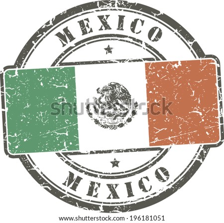 Grunge stamp 'Mexico'  - stock vector