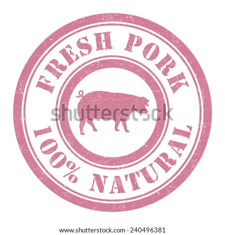 Grunge stamp of Pork