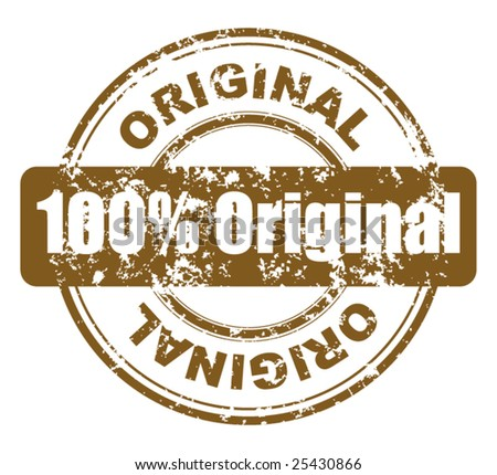 grunge stamp with 100% original - stock vector