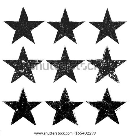 Grunge stars - stock vector