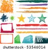 Grunge stars and frames - stock vector