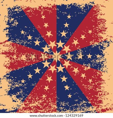 Grunge Stars texture USA. Vector illustration EPS10 - stock vector