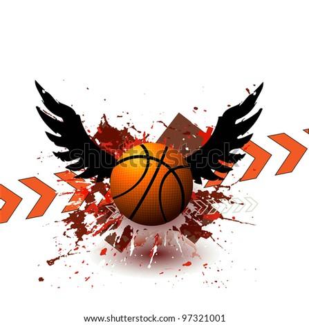 Grunge Street Ball Poster - stock vector