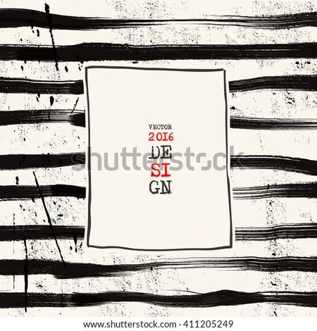 Grunge stripe background. Abstract grunge decoration. Art ink grunge. Brush stroke grunge element. Grunge vector illustration. - stock vector