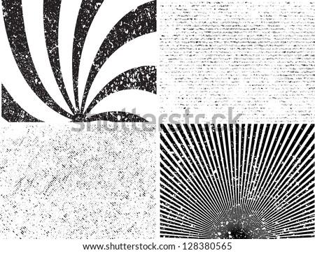 Grunge stripe set. Vector illustration. - stock vector