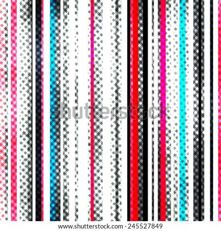 grunge stripes seamless texture - stock vector