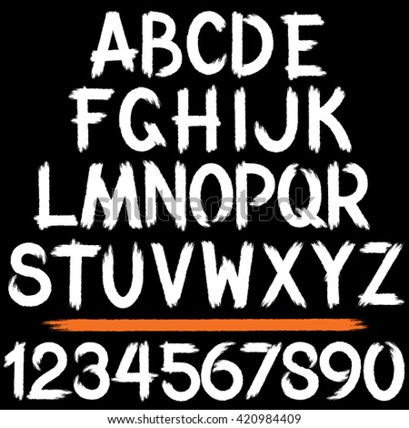 Grunge Strokes Alphabet. Ready for Your Text and Design. - stock vector