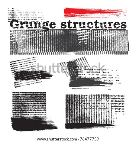 Grunge structure elements (vector) - stock vector