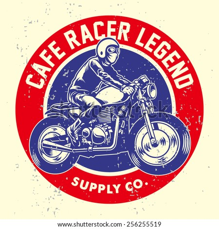 grunge style of cafe racer badge