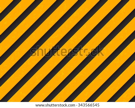 Grunge style under construction background. Black and yellow stripes with scratches. Vector illustration for your design. - stock vector