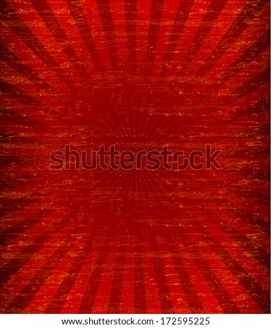 Grunge sunburst pattren background (Vector) - stock vector