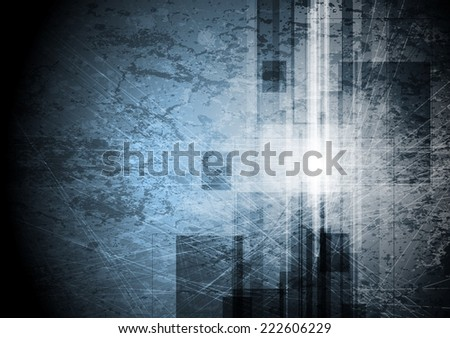 Grunge tech background. Vector design - stock vector