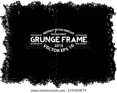 Grunge texture - abstract stock vector template - easy to use