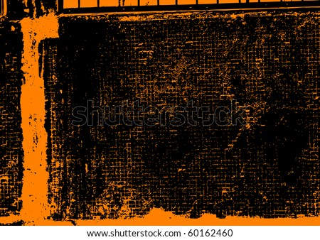 Grunge texture in orange color. Vector. - stock vector
