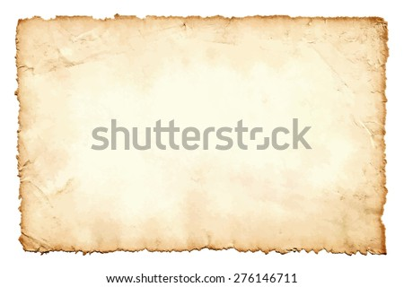 Grunge texture of old paper  isolated on white background. Vector illustration. Image trace. - stock vector