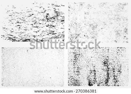 Grunge texture set.Distress backgrounds.Abstract vector template. - stock vector