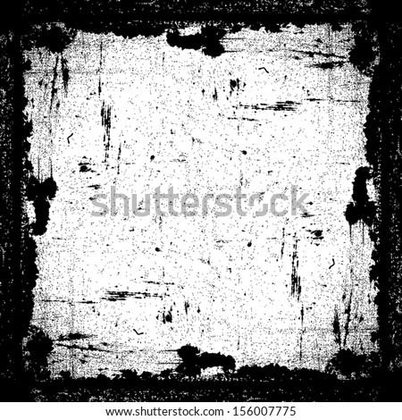 Grunge Textured Frame. EPS10 vector. - stock vector