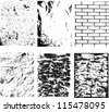 grunge textures set. background. vector illustration. - stock photo