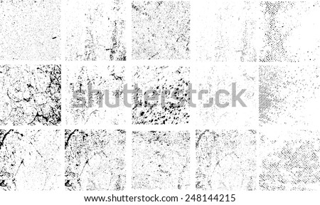 grunge textures set. Distressed background. vector illustration.  - stock vector