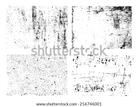 Grunge textures set.Grunge backgrounds.Abstract vector template.  - stock vector