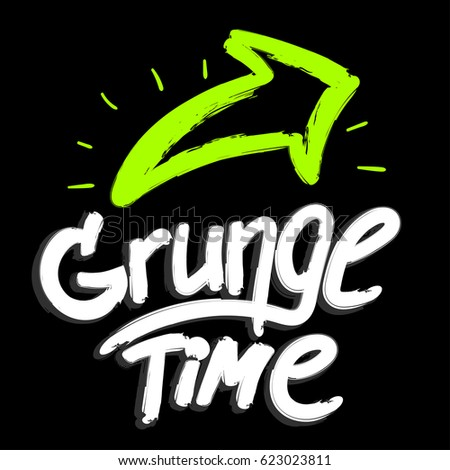 Grunge time urban wallpaper on black stock vector hd royalty free urban wallpaper on black background with shape hand written lettering composition and green voltagebd Gallery