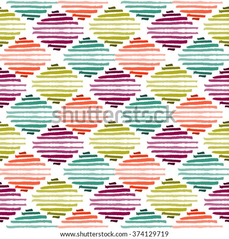 Grunge tribal brush stroke seamless pattern. Ethnic texture - stock vector
